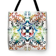 Pattern Art - Color Fusion Design 7 By Sharon Cummings Tote Bag