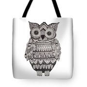Patterned Owl Tote Bag