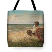 Paul Fischer, 1860-1934, Girls On The Beach Tote Bag