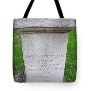 Paul Revere Grave  Tote Bag