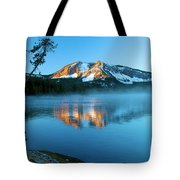 Paulina Peak In Paulina Lake Tote Bag