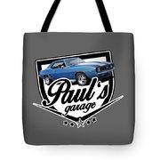 Pauls Garage Camaro Tote Bag