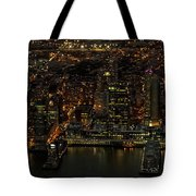 Paulus Hook, Jersey City Aerial Night View Tote Bag