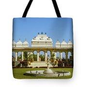 Pavilion And Fountain, Udaipur, India Tote Bag