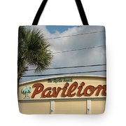 Pavilion With Palm Tote Bag