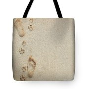 Paw And Footprints 2 Tote Bag
