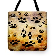Paw Prints Tote Bag by Andee Design