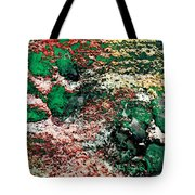 Paw Prints In Green And Red And Yellow Tote Bag