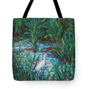Pawleys Island Egret Tote Bag
