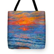 Pawleys Island Sunrise In The Sand Tote Bag