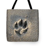 Pawprint In The Sand Tote Bag
