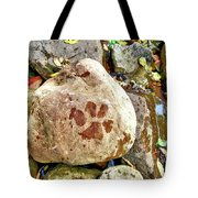 Paws On The Rocks Tote Bag
