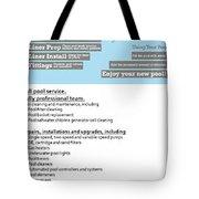 Payan Pool Service Infographics Tote Bag