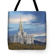 Payson Temple At Dusk Tote Bag