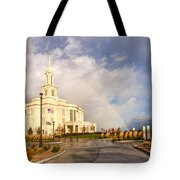 Payson Utah Temple Rainbow Tote Bag