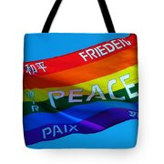Peace - Paz - Paix Tote Bag