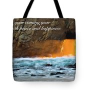 Peace And Happiness Tote Bag