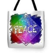 Peace Cool Rainbow 3 Dimensional Tote Bag