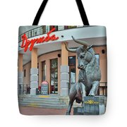 Peace. Friendship. Bubble Gum Tote Bag by Andy Za
