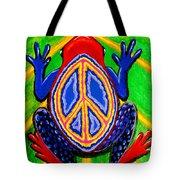 Peace Frog Too Tote Bag