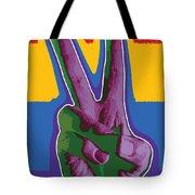 Peace Hand Tote Bag
