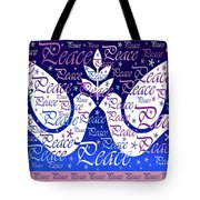 Peace Holiday Card Tote Bag