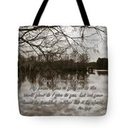 Peace I Leave With You Tote Bag