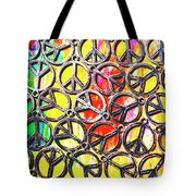 Peace In All Colours Tote Bag