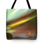 Peace Is Colorful - Vertical Painting Tote Bag