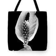Peace Lily Elegant Flower Tote Bag