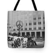 Peace March 1986 Tote Bag