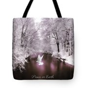 Peace On Earth With Text Tote Bag