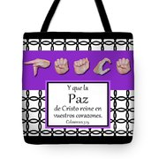 Peace Spanish - Bw Graphic Tote Bag