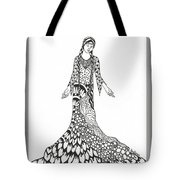 Peace Woman Wild Ink Tote Bag