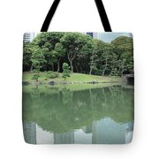 Peaceful Bridge In Tokyo Park Tote Bag