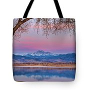 Peaceful Early Morning First Light Longs Peak View Tote Bag