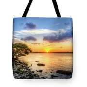 Peaceful Evening On The Waterway Tote Bag