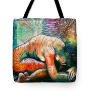 Peaceful Flow - Reclining Nude Tote Bag