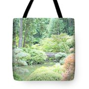 Peaceful Garden Space Tote Bag