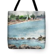 Peaceful Morning At The Harbor  Tote Bag