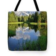 Peaceful Morning In Grand Teton Np Tote Bag