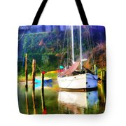 Peaceful Morning In The Cove Tote Bag