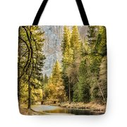 Peaceful Mountain River Tote Bag