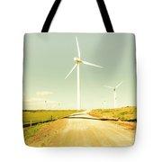 Peaceful Pastel Wind Farm Tote Bag