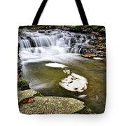 Peaceful Pool Waterfall Tote Bag