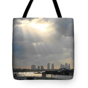 Peaceful Rays Of Sunshine Tote Bag