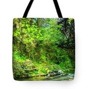 Peaceful Small Creek Under Kinsol Trestle, Vancouver Island, Bc, Canada 1. Tote Bag