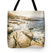 Peaceful Sun Flared Australian Coastline Tote Bag