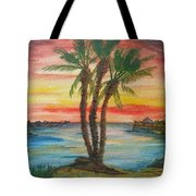 Peaceful Sunset Tote Bag
