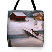 Peaceful Winter Evening Tote Bag